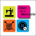 Allée de la Mercerie Montpellier Magasin de mercerie, de couture et du tricot dans le quartier Près d'Arènes avec un grand choix de laines, boutons, fils, rubans