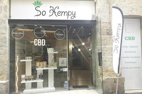 Boutique CBD Montpellier chez So Hempy qui vend des produits contenant du cannabidiol en centre-ville (® So Hempy)