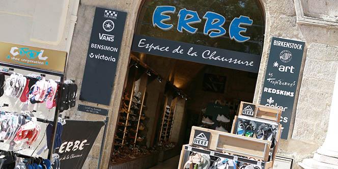 Erbé Montpellier vend un large choix de chaussures pour tous les styles au 8 Rue de la Loge.