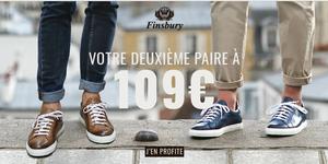 Finsbury Montpellier annonce une promo sur les chaussures homme. ( ® finsbury)