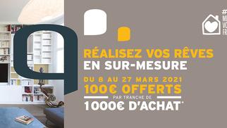 Quadro Montpellier annonce une offre exceptionnelle jusqu'au 27 mars 2021.