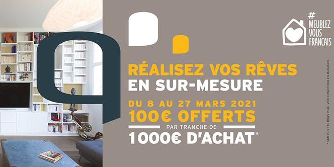 QUADRO Montpellier conçoit et vend des aménagements sur mesure de fabrication française.