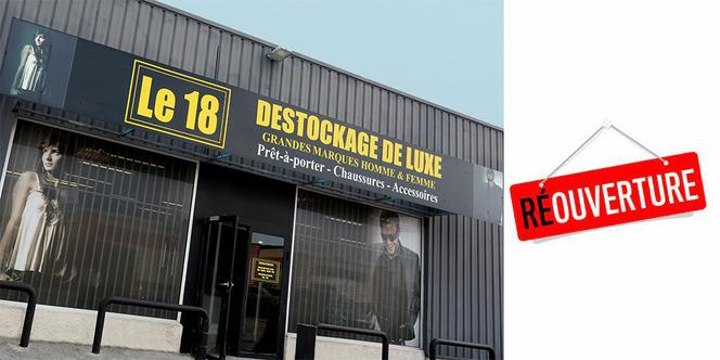 Votre boutique de déstockage de vêtements de luxe Le 18 réouvre ses portes le 19 mai