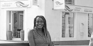 Amandine Thivet dirige Amandine Optique à Gignac en centre-ville.(®SAAM fabrice CHORT)