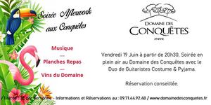Le Domaine des Conquêtes à Aniane organise une soirée Afterwork le vendredi 19 juin.
