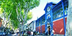 Les Halles au centre-ville de Lunel