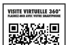 Vue partielle du flash code de la boutique Allée de la Mercerie Montpellier