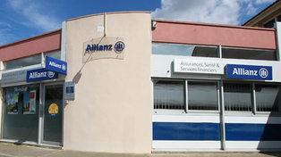 Vitrine du cabinet Allianz Guerrier-Guillin au centre commercial Jacques d'Aragon de Lattes (credits photos : EDV-Fabrice Chort).