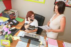 Membres de l'équipe de l'agence APEF Services à la personne au centre-ville de Lattes (credits photos :EDV-Fabrice Chort)