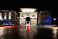 Association Foch Préfecture Montpellier regroupe plus de 40 commerces et restaurants en centre-ville ici quartier illuminé en soirée (® Association Foch Préfecture Montpellier)