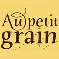 Logo de la cave a vins et bar a cafe Au Petit Grain de la rue de la Carbonnerie au centre-ville de Montpellier