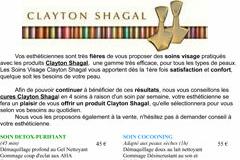 Institut Beauty'full Saint Gély du Fesc présente les soins visage Clayton Shagal