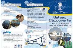 Bleu Marin Bouzigues Promenade en bateau dans les Parcs à huîtres