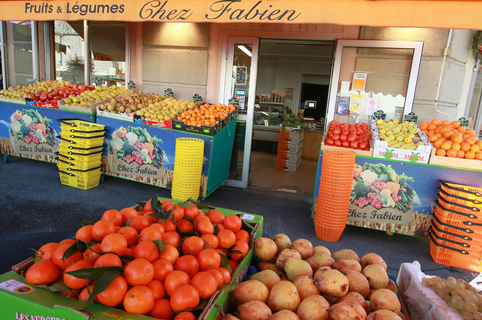 Chez Fabien Montpellier Primeur dans le quartier des Beaux Arts au centre-ville (® SAAM-fabrice Chort)