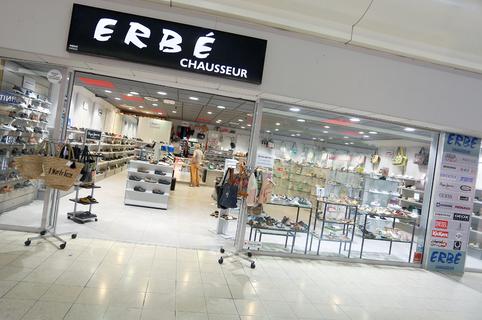 Erbé Pérols Chaussures vend des chaussures de marques dans la galerie marchande d'Auchan (® SAAM-fabrice Chort)