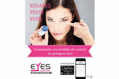 Eyes Optic Castelnau le Lez votre opticien discounter lance son Appli mobile pour faciliter les commandes (® eyes optic)
