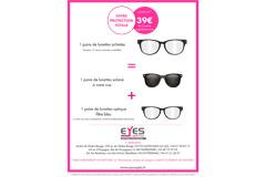 Eyes Optic Castelnau le Lez annonce l'Offre Protection totale dès 39 euros pour 2 paires de lunettes supplémentaires (® eyes optic)