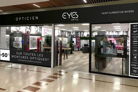 Eyes Optic Opticien Saint Clement de Riviere vend des lunettes à prix discount dans la galerie de Carrefour Trifontaine (® SAAM-fabrice Chort)