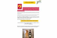 Huilerie Clermont l'Hérault Olidoc présente le Coup de cœur pour Huile d'olive Cuvée Augustin des femmes journalistes 2016