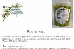 Olidoc Clermont l'Hérault annonce l'obtention de l'AOC pour l'olive verte Lucques du Languedoc