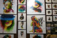 Encadrement Montpellier chez Images de Demain Montpellier au centre-ville ,ici des oeuvres de Patrice Murciano (® Images-de-Demain)