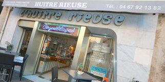 L'Huître Rieuse Montpellier Poissonnerie avec de magnifiques poissons et fruits de mer au centre-ville de Montpellier (® NetWorld-Fabrice Chort)