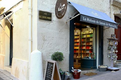 Devanture de la Maison du Savon de Marseille au centre-ville de Montpellier (credits photos : EDV-Fabrice Chort)