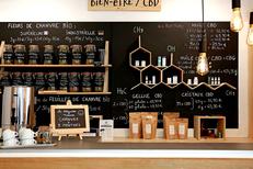 Les Herbes de Lajoie est une boutique de produits à base de chanvre à Montpellier en centre-ville (® SAAM-Fabrice Chort)
