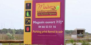 La Maison méditerranéenne des Vins Grau du Roi sur la route de l'Espiguette (® networld-fabrice chort)