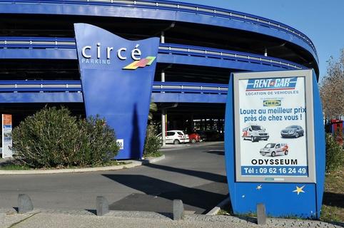 Emplacement d'affiche au parking Circe par Mediaffiche dans la ville de Montpellier