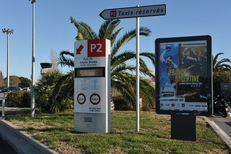Emplacement d'affichage à l'Aéroport de Montpellier par Mediaffiche