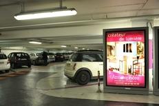 Emplacement d'affichage au parking de la Comédie dans la ville de Montpellier par Mediaffiche