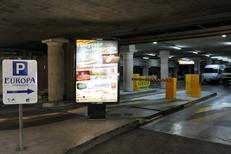 Emplacement d'affichage au parking Europa dans la ville de Montpellier par Mediaffiche