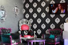 Color Pop Cheveux chez Scari Pink Montpellier Salon de coiffure spécialisé dans la coloration multi couleurs à Port Marianne (® SAAM-fabrice Chort)