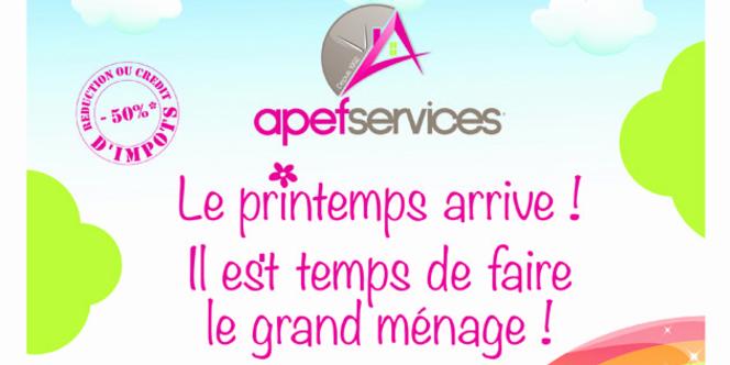 Apef services lattes propose des offres pour le m nage de printemps montpel - Le menage de printemps ...