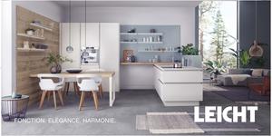 Atelier C Clapiers Magasin de cuisines haut de gamme à Montpellier présente une Cuisine Leicht modèle Valais-Classic.