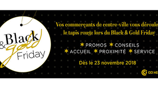 Participez au Black and Gold Friday Montpellier en centre-ville avec le soutien de la CCI Hérault.
