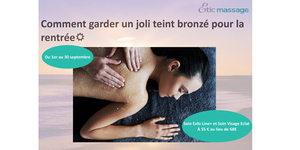 Cabinet Bio Etic Massage Montpellier propose son Soin After Sun pour prolonger votre bronzage de l'été.