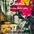 Chuma Montpellier annonce un cocktail pour ses 2 ans avec l'artiste Elisabeth Baldach le samedi 21 octobre à partir de 18h.