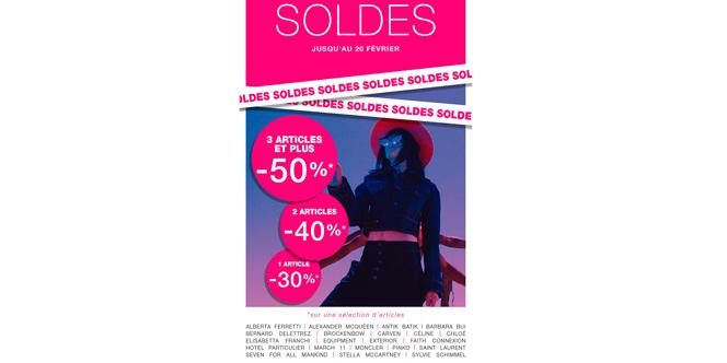 Coqueline boutique Montpellier qui propose des vêtements Femme haut de gamme solde jusqu'à -50% * ! Découvrez cette offre exceptionnelle.