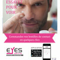 Eyes Optic Castelnau le Lez votre opticien discounter lance son Appli mobile pour faciliter les commandes de lentilles.