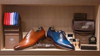 Finsbury Montpellier Magasin de chaussures pour hommes haut de gamme propose des idées-cadeaux pour la Saint Valentin.(® SAAM-fabrice Chort)