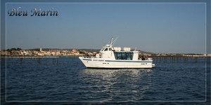 Foire aux Huitres de Bouzigues 5 et 6 août, découvrez Bleu Marin le bateau promenade qui vous présentera les parcs à huitres et moules de l'Etang de Thau.(® bleu marin)