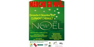 Huilerie coopérative Clermont l'Hérault Olidoc annonce le Marché de Noël le dimanche 11 décembre à Clermont l'Hérault.