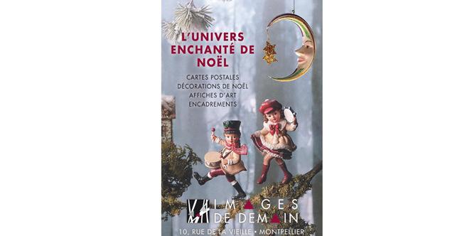 Images de demain Montpellier prépare Noël avec ses cartes postales et sa déco de Noël à découvrir en centre-ville.