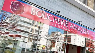 """La Boucherie Amazrin propose une génisse limousine """"super prix d'excellence"""" à partir de mardi 8 octobre 2019 dans sa boucherie à Port Marianne.(® SAAM*fabrice Chort)"""