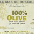 La gamme Le Mas du Roseau de cosmétiques écologiques à base d'huile d'olive en vente à l'Huilerie Confiserie Coopérative de Clermont l'Hérault.