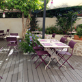 Le restaurant Les Gourmands Montpellier a ouvert sa terrasse d'été pour les beaux jours dans le quartier des Beaux Arts (® networld-fabrice chort)