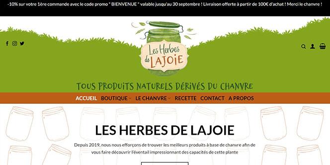 Les Herbes de Lajoie Montpellier a ouvert une boutique en ligne pour vendre ses produits naturels dérivés du chanvre.