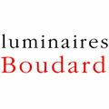 Logo de la boutique Luminaires Boudard au croisement de la Rue Foch et de la Rue de l'Aiguillerie au centre-ville de Montpellier